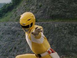 Mighty Morphin Yellow Ranger Pose