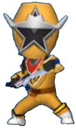 Gold Ninja Steel Ranger in Power Rangers Dash