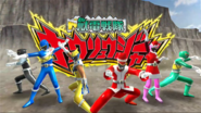 Kyoryuger with Red & Pink Christmas