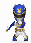 Blue Megaforce Ranger In Power Rangers Dash