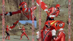 Red Senshi Handover- Go-onger - Shinkenger
