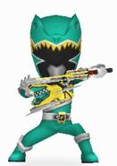 Green Dino Charge Ranger Armored On In Power Rangers Dash