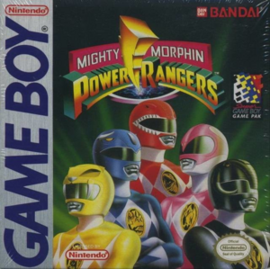 Mighty Morphin Power Rangers Game Boy cover USA
