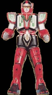 MMPR Red Dragon Thunderzord Warrior Mode