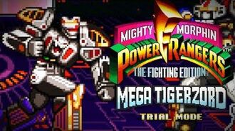 Mighty Morphin Power Rangers The Fighting Edition (SNES) - Trial Mode - Mega Tigerzord Gameplay
