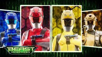 Power Rangers Beast Morphers - Gold Ranger Morph Sequence Official First Look Episode 9