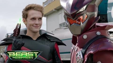 """Power Rangers Beast Morphers - Blaze Ranger Morph Unmorphed Fight Episode 2 """"Evox's Revenge""""-0"""