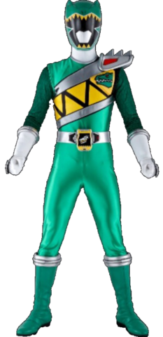 File:Green Dino Charge Ranger & Kyoryu Green.png