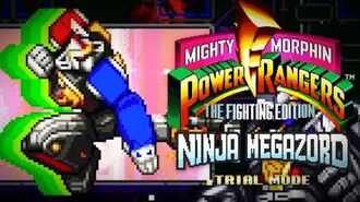 Mighty Morphin Power Rangers The Fighting Edition (SNES) - Trial Mode - Ninja Megazord Gameplay