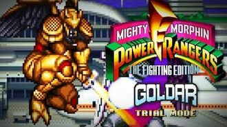 Mighty Morphin Power Rangers The Fighting Edition (SNES) - Trial Mode - Goldar Gameplay