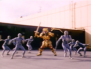 Goldar and Putties