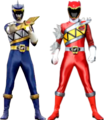 Kyoryu Navy and Kyoryu Red Armed-On
