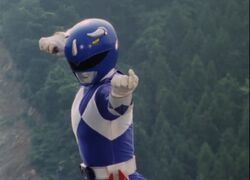 Mighty Morphin Blue Ranger Pose