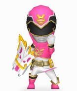 Pink Megaforce Ranger In Power Rangers Dash