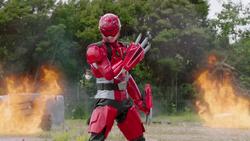 Beast Morphers Red Fury Mode