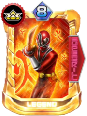Shinken Red Card in Super Sentai Legend Wars