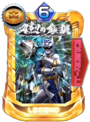 GaoSilver Card in Super Sentai Legend Wars