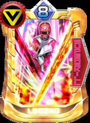 GingaRed Card in Super Sentai Legend Wars