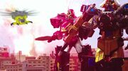 Added zord to the Sentai footage