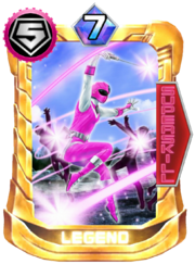 Pink Mask Card in Super Sentai Legend Wars