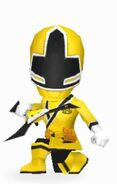 Yellow Samurai Ranger In Power Rangers Dash