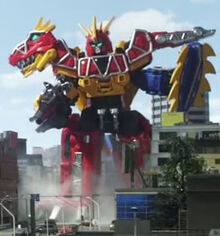 Dino Charge Megazord Para-Stego Formation