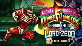 Mighty Morphin Power Rangers The Fighting Edition (SNES) - Trial Mode - Lord Zedd Gameplay