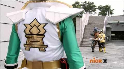 Power Rangers Super Samurai - Super Samurai Green Transformation 1 (HD)