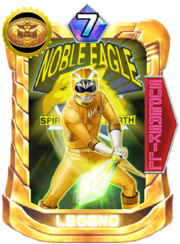GaoYellow Card in Super Sentai Legend Wars