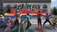Samurai Sentai Shinkenger with KyoryuShinkenGreen in Super Sentai Legend Wars