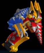Thundersaurus Megazord in Power Rangers Dash