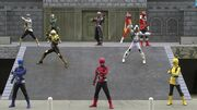 Go-Busters with Super Hero