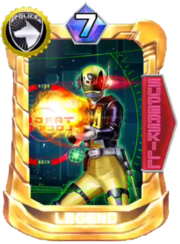 DekaYellow SWAT Mode Card in Super Sentai Legend Wars