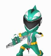 Green RPM Ranger in Power Rangers Dash