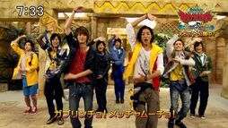 Male Kyoryuger and Wizard Cast Dance