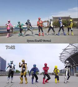 Space Sheriff Gavan vs. Super Sentai