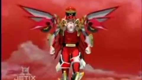 Power Rangers Ninja Storm - Red Battlized Ranger Flight Mode Transformation