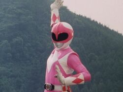 Mighty Morphin Pink Ranger Pose