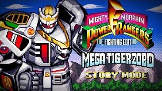 Mighty Morphin Power Rangers The Fighting Edition (SNES) - Story Mode - Mega Tigerzord Gameplay