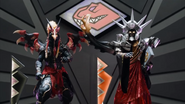 Dino Charge Megazord Doomwing and Arcanon