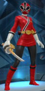 Legacy Wars Red Samurai Ranger female