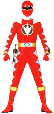 File:Red Dino Ranger & AbareRed.png