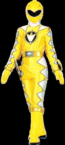 File:Yellow Dino Ranger & AbareYellow.png