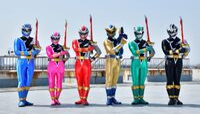 Kishiryu Sentai Ryusoulger all six
