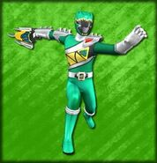 Kyoryu Green Armed On (Dice-O)