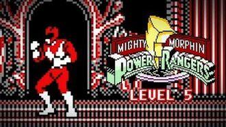 Mighty Morphin Power Rangers (Game Boy) - Level 5 Gameplay - Megazord vs. Rita Repulsa