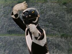 Mighty Morphin Black Ranger Pose