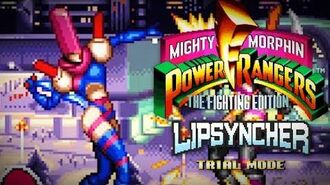 Mighty Morphin Power Rangers The Fighting Edition (SNES) - Trial Mode - Lipsyncher Gameplay