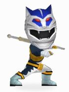 Lunar Wolf Wild Force Ranger in Power Rangers Dash