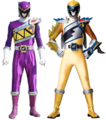 Kyoryu Violet and Kyoryu Gold Armed-On